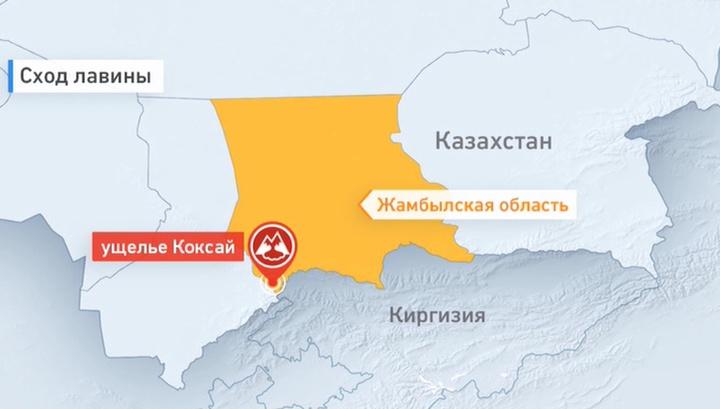 От схода лавины на юге Казахстана погибли семеро военнослужащих