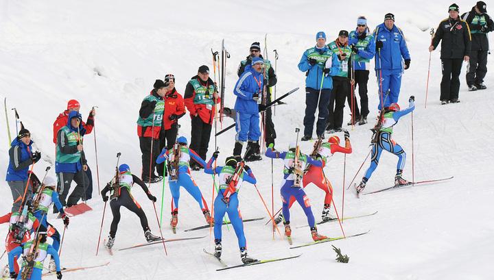 Российские биатлонистки неудачно выступили в эстафете