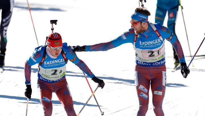 Российские биатлонисты стали третьими в эстафете на Кубке мира