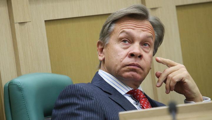 Пушков о словах Порошенко про визит Путина в Крым: поезд истории ушел, казус исправлен