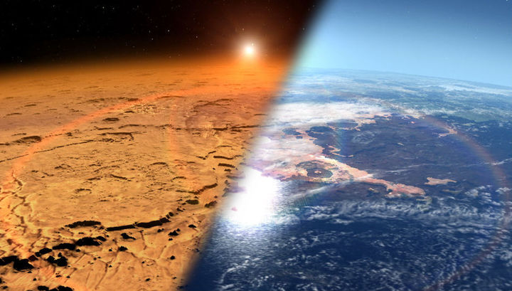 Солнечный ветер сдул в космос почти всю атмосферу Марса