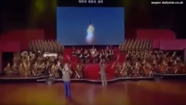 Под патриотические песни в КНДР показали видео удара по США