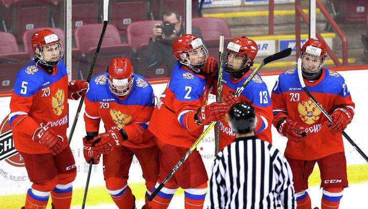 Юниорская сборная России потерпела первое поражение на чемпионате мира