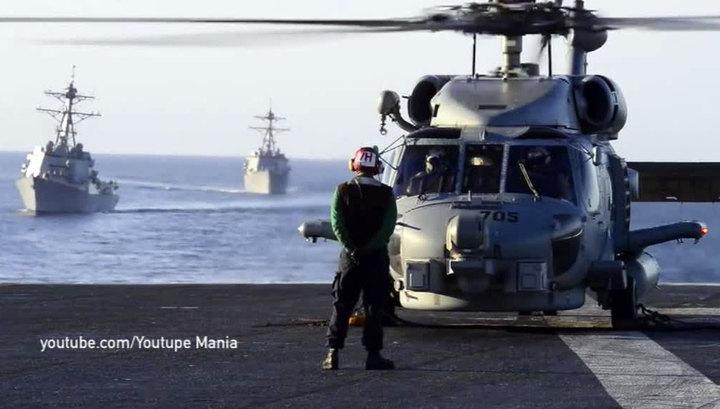 "Истребитель с авианосца ""Карл Винсон"" рухнул при заходе на посадку"