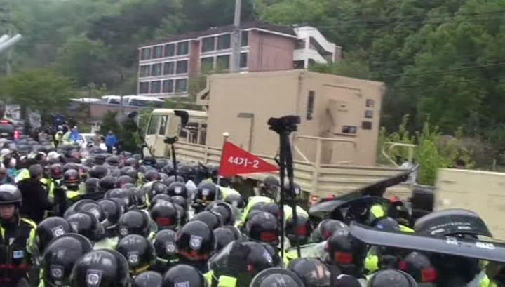 Жители Южной Кореи бунтуют против размещения американской системы ПРО