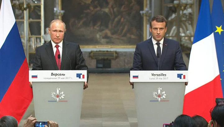 """Результат пошуку зображень за запитом """"Макрон и Путин"""""""