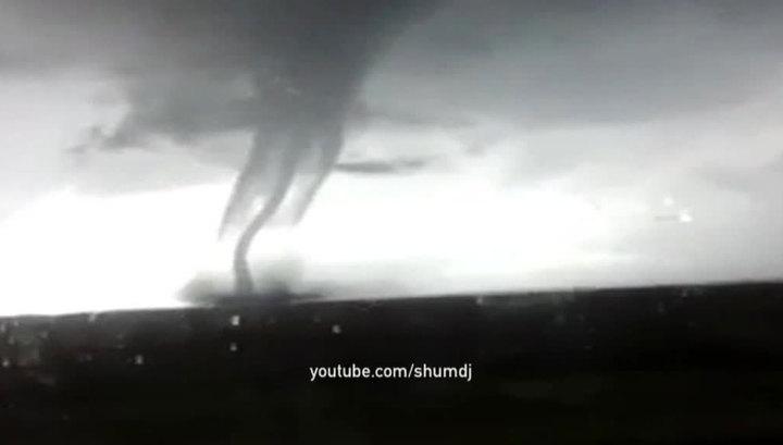 По Омской области прошелся торнадо. Видео