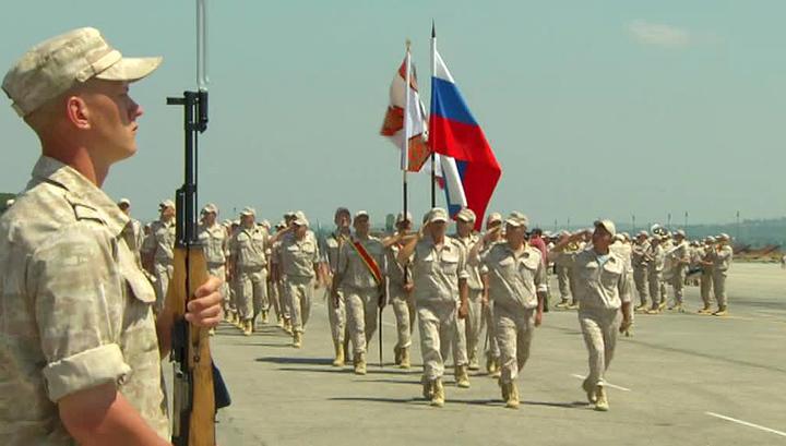 Военные в Сирии отметили День России