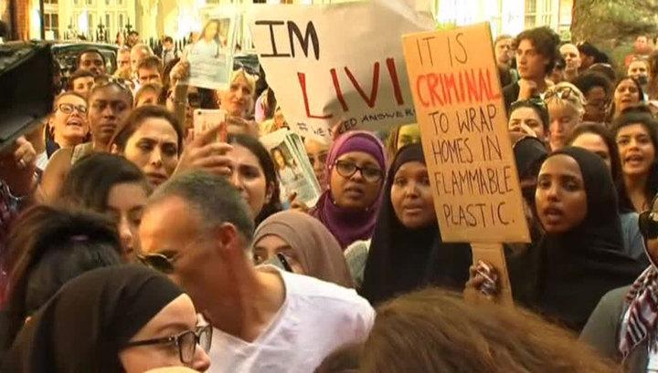 Протесты в Лондоне: люди требуют правды о жертвах пожара в Grenfell Tower