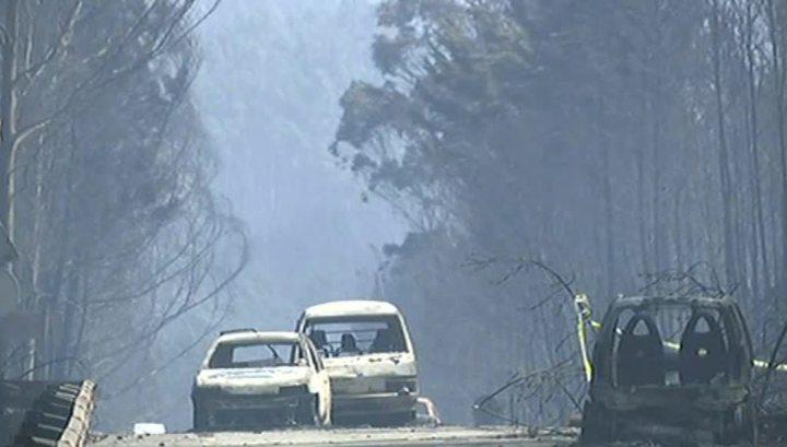 Катастрофа в Португалии: люди в машинах сгорают заживо