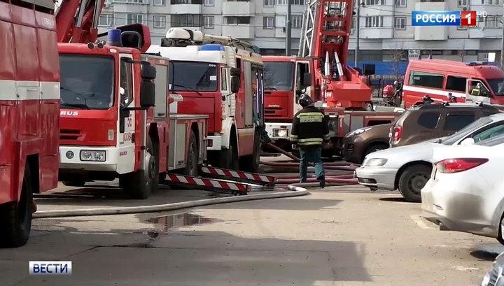 В Москве погашен пожар в 17-этажном доме