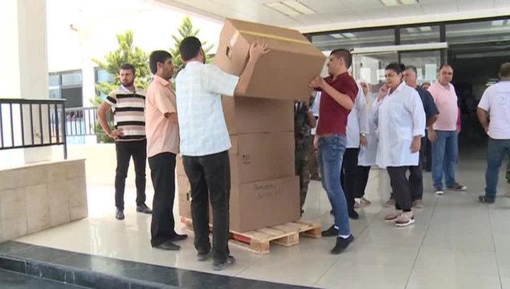 Сирийцам переданы 8,4 тонны гуманитарной помощи