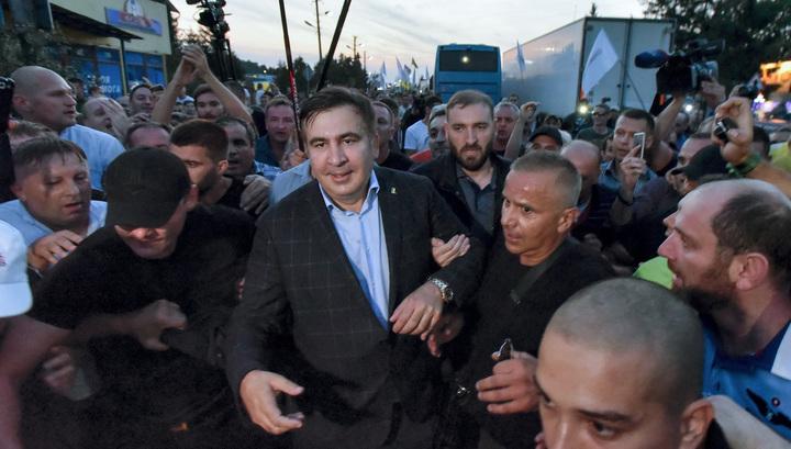 Сторонники Саакашвиили прошли маршем по Киеву