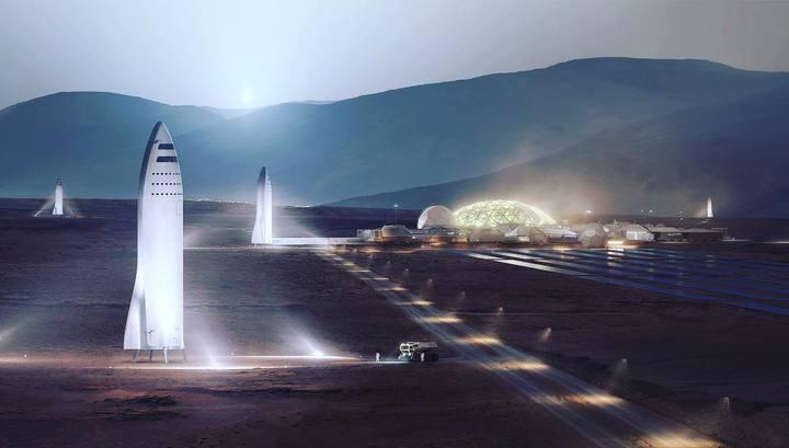Макет будущей марсианской колонии.
