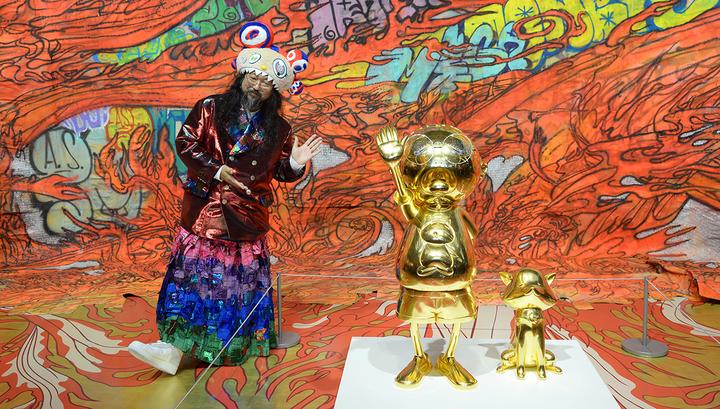"Такаси Мураками открыл выставку ""Будет ласковый дождь"" в ""Гараже"""