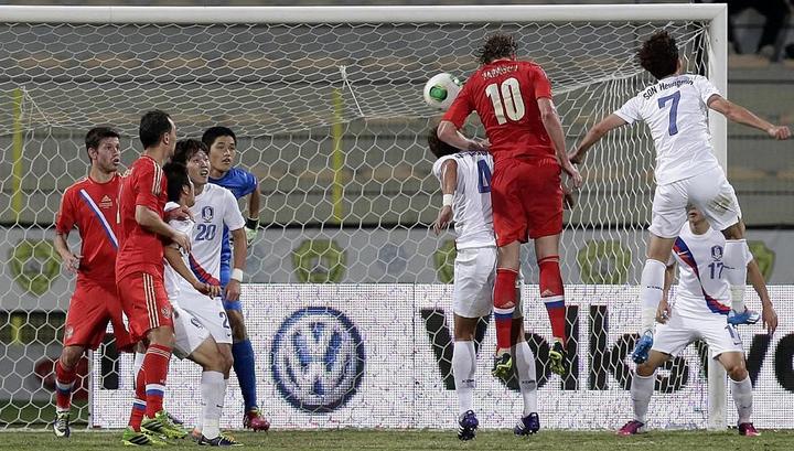 Футболисты сборной России обыграли корейцев
