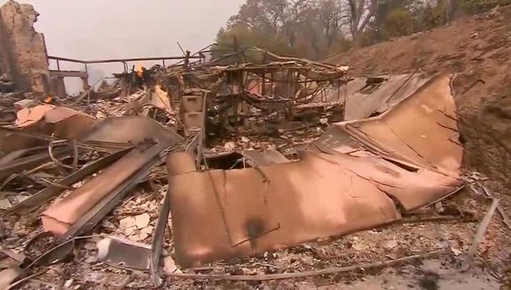 Лесные пожары уничтожили две винодельни на севере Калифорнии