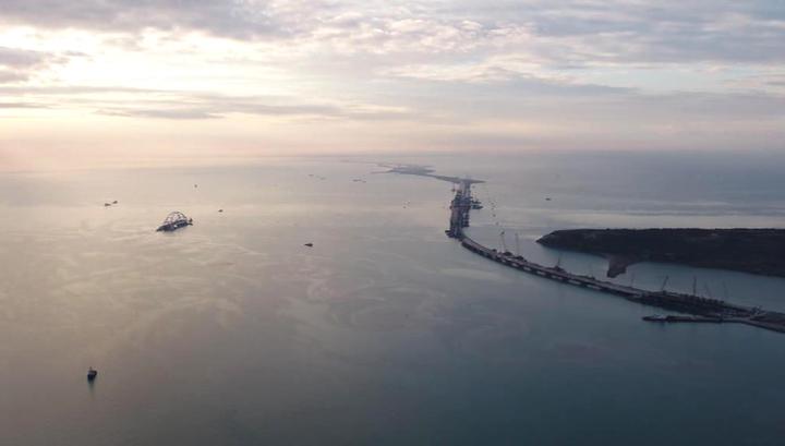 Основные элементы железнодорожной части Крымского моста готовы на 50%