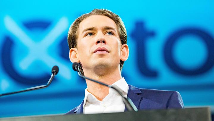 Партия канцлера Курца лидирует на выборах в Европарламент в Австрии