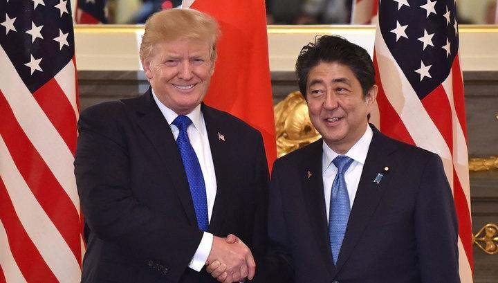 Трамп и Абэ договорились оказывать давление на КНДР