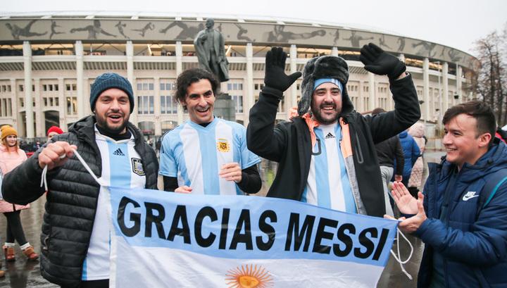 Россия – Аргентина. Аншлаг на матче открытия новых