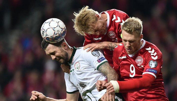 Сборные Дании и Ирландии сыграли вничью