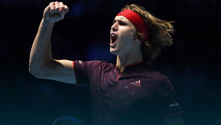 Теннисист Зверев стартовал с победы на итоговом турнире АTP