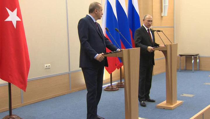 Путин и Эрдоган уверены в восстановлении прежнего уровня отношений