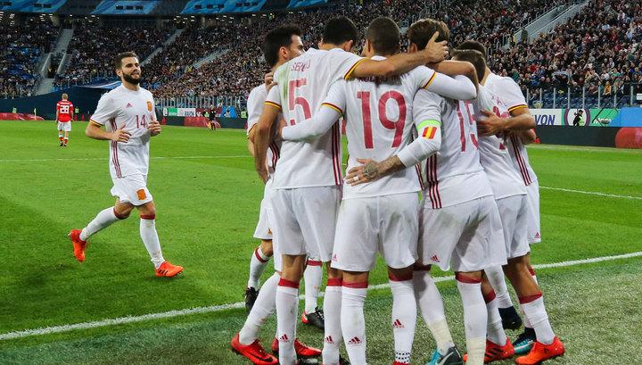 Россия – Испания. Гости ведут после первого тайма