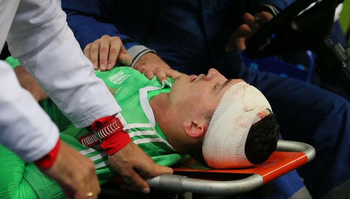 У вратаря сборной РФ по футболу Лунёва сотрясение мозга и скальпированная рана