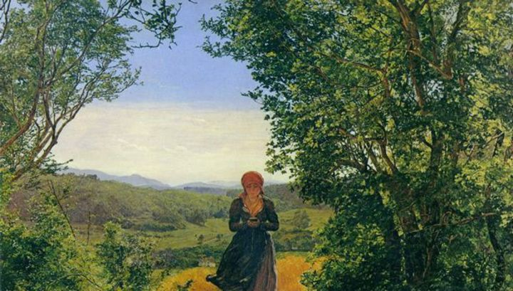 В руках девушки с картины середины XIX века заметили смартфон