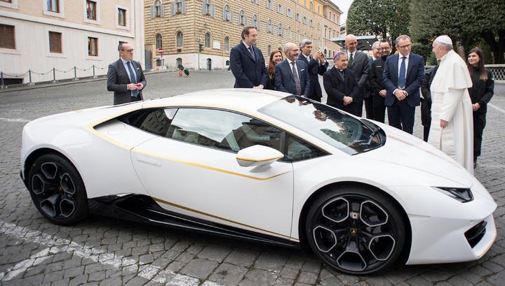 Папа Римский решил не пользоваться подаренным ему Lamborghini