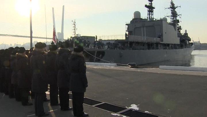 """Японский эсминец """"Хамагири"""" прибыл во Владивосток для участия в совместных маневрах"""