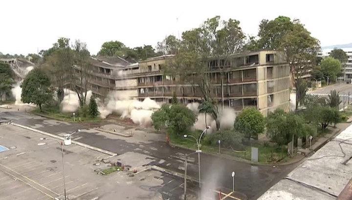 В Колумбии взорвали бывшее здание министерства транспорта
