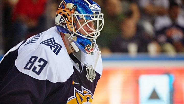 Вратарь Магнитки Кошечкин назван лучшим в КХЛ на минувшей неделе