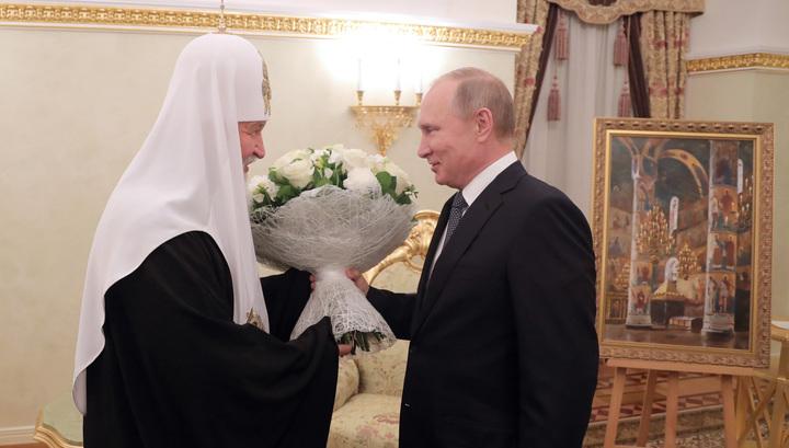 Президент пожелал Патриарху поменьше работать