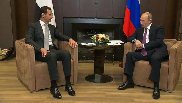 Путин на встрече с Асадом: военная операция в Сирии близка к завершению