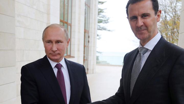 Лидеры России и Сирии обсудили подготовку к Конгрессу в Сочи