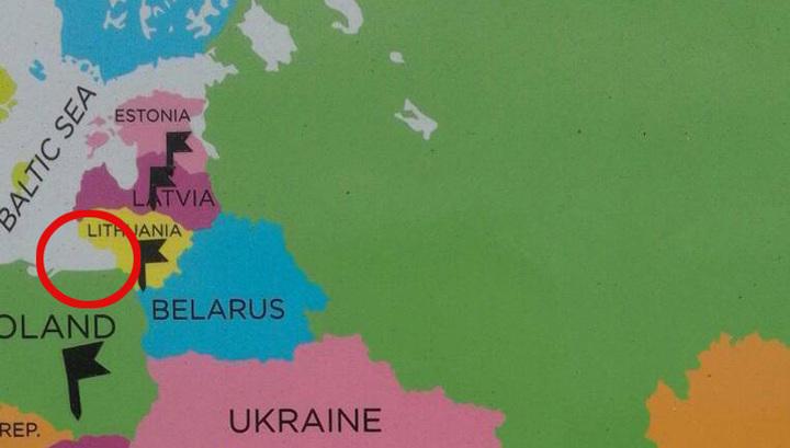 Европейские картографы в очередной раз забыли про Калининградскую область