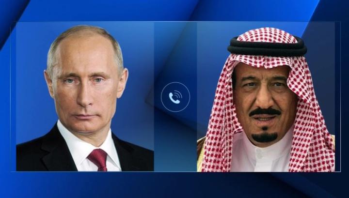 Король Саудовской Аравии и президент России обсудили ситуацию на Ближнем Востоке