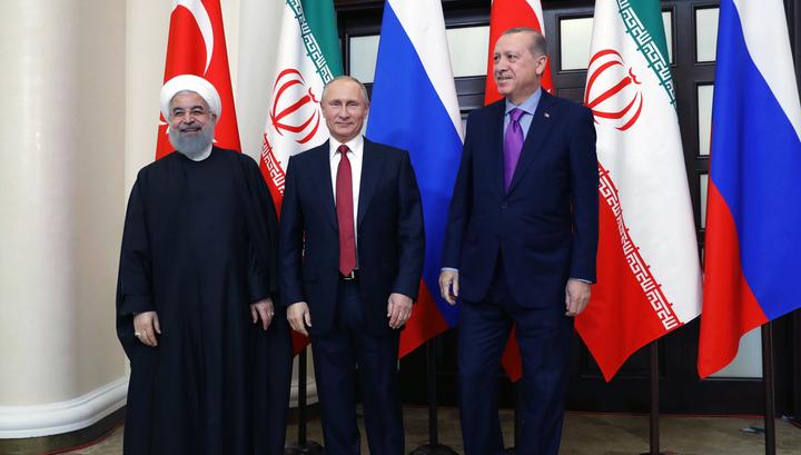 Путин: лидеры Ирана и Турции поддержали идею сирийского конгресса