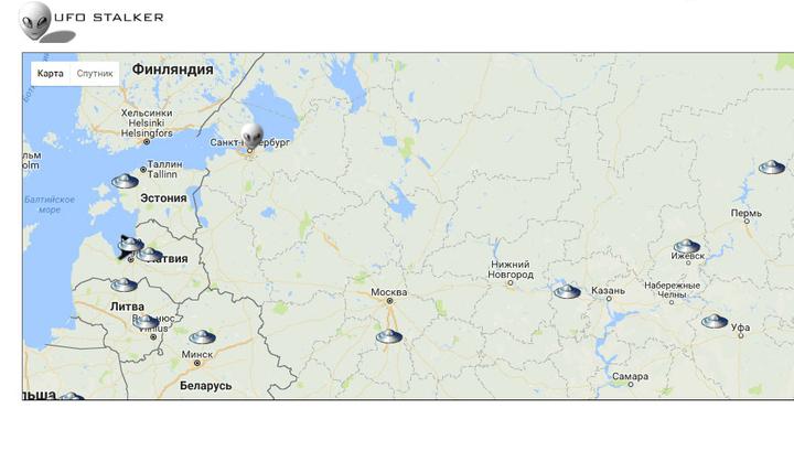 """НЛО прилетают все чаще: карта """"вторжений инопланетян"""" на Землю"""