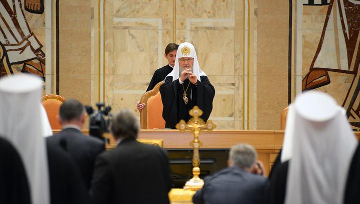 Патриарх Московский и всея Руси Кирилл открыл Архиерейский собор