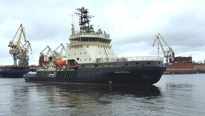 Новейший российский военный ледокол впервые примет участие в маневрах