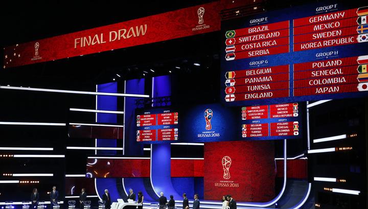 Состоялась жеребьевка чемпионата мира по футболу-2018