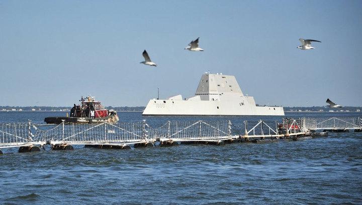 Новый американский эсминец вышел на ходовые испытания