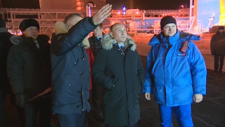 Путин дал старт загрузке танкера