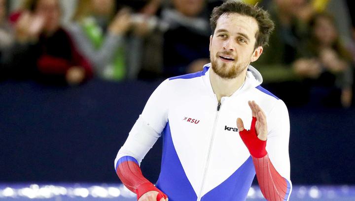 Конькобежец Денис Юсков стал победителем на дистанции 1 500 метров