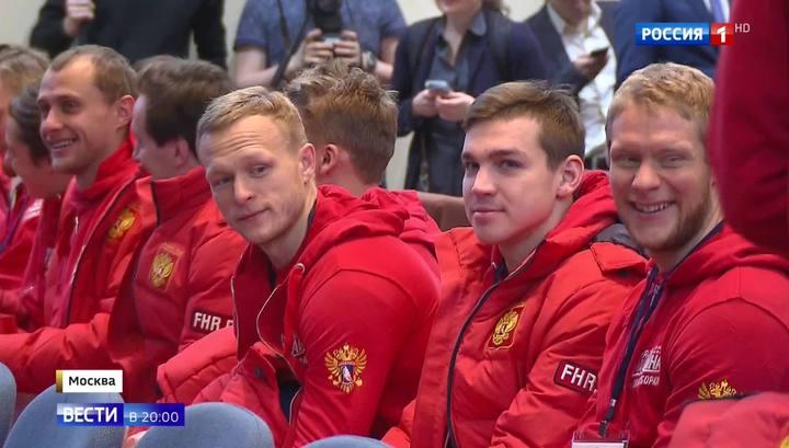Спортсмены поедут на Олимпиаду с флагом и гимном в сердце