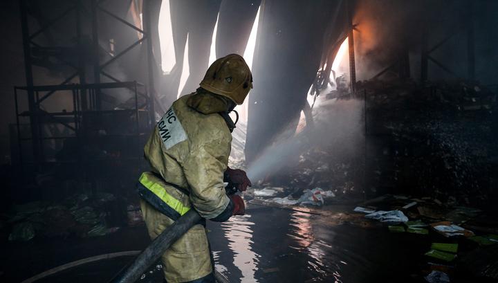 Пожар в мебельном цехе в Воскресенске удалось локализовать